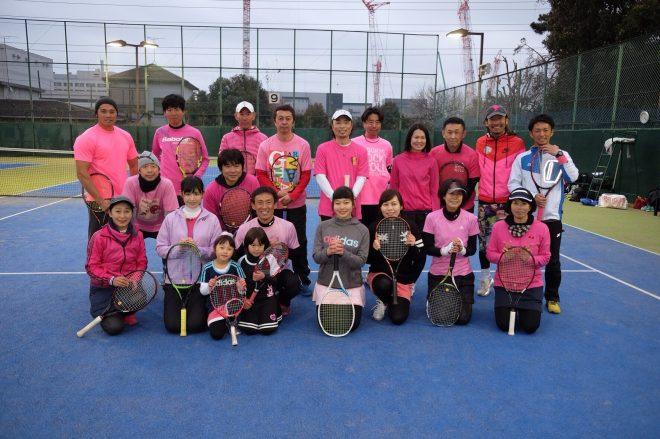 ピンクシャツday テニスイベント